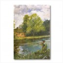 Peaceful River canvas print on wood frame