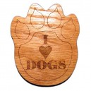 I love Dogs paw print magnet