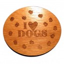 I love dogs foot print magnet