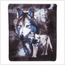 Wild Wolves Fleece Blanket